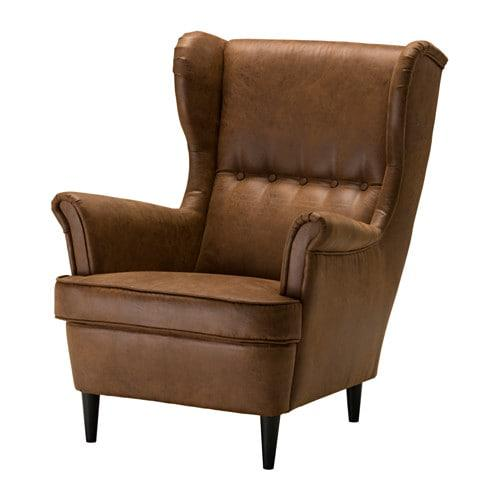 Outstanding Strandmon 703 770 99 Wing Chair Jarstad Brown By Ikea Theyellowbook Wood Chair Design Ideas Theyellowbookinfo
